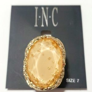 《INC》Gold Goddess Cocktail Ring Statement Neutral